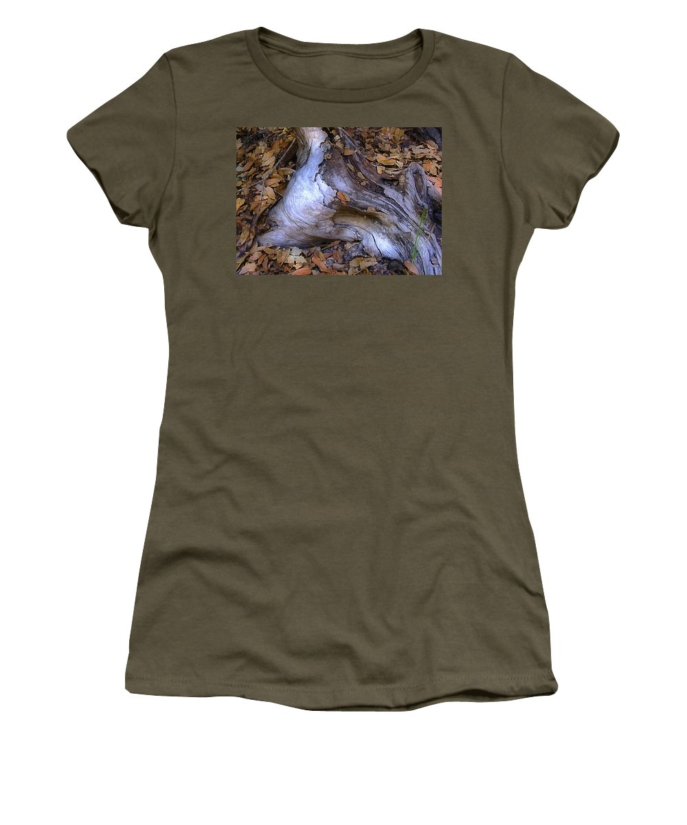 Landscape Women's T-Shirt featuring the photograph Driftwood In Lahonda by Karen W Meyer