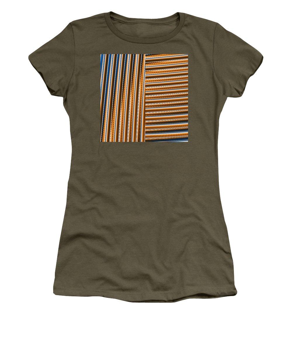 Digital Art Women's T-Shirt (Athletic Fit) featuring the digital art Duality I by Dragica Micki Fortuna