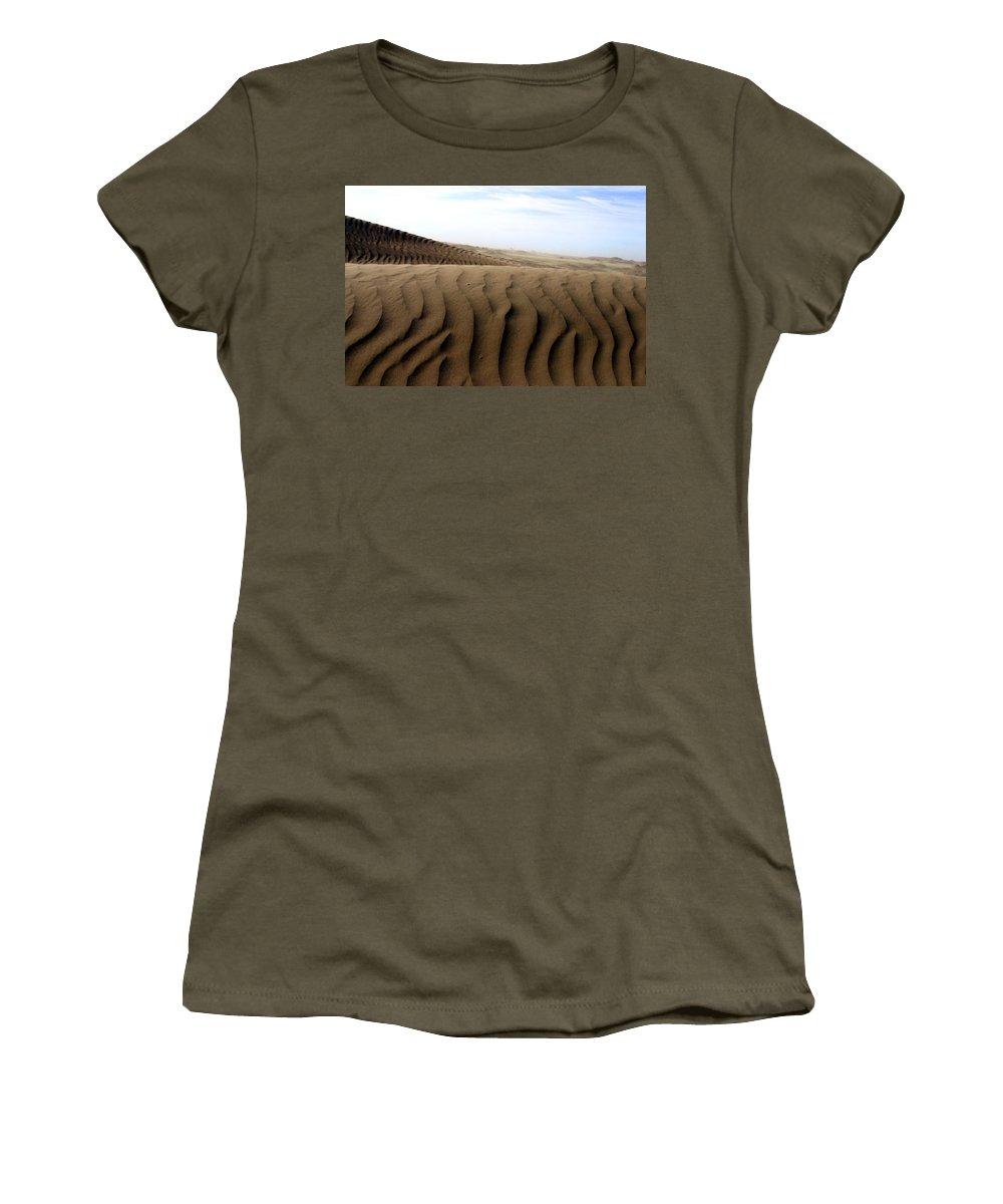 Sand Dunes Women's T-Shirt featuring the photograph Dunes Of Alaska by Anthony Jones