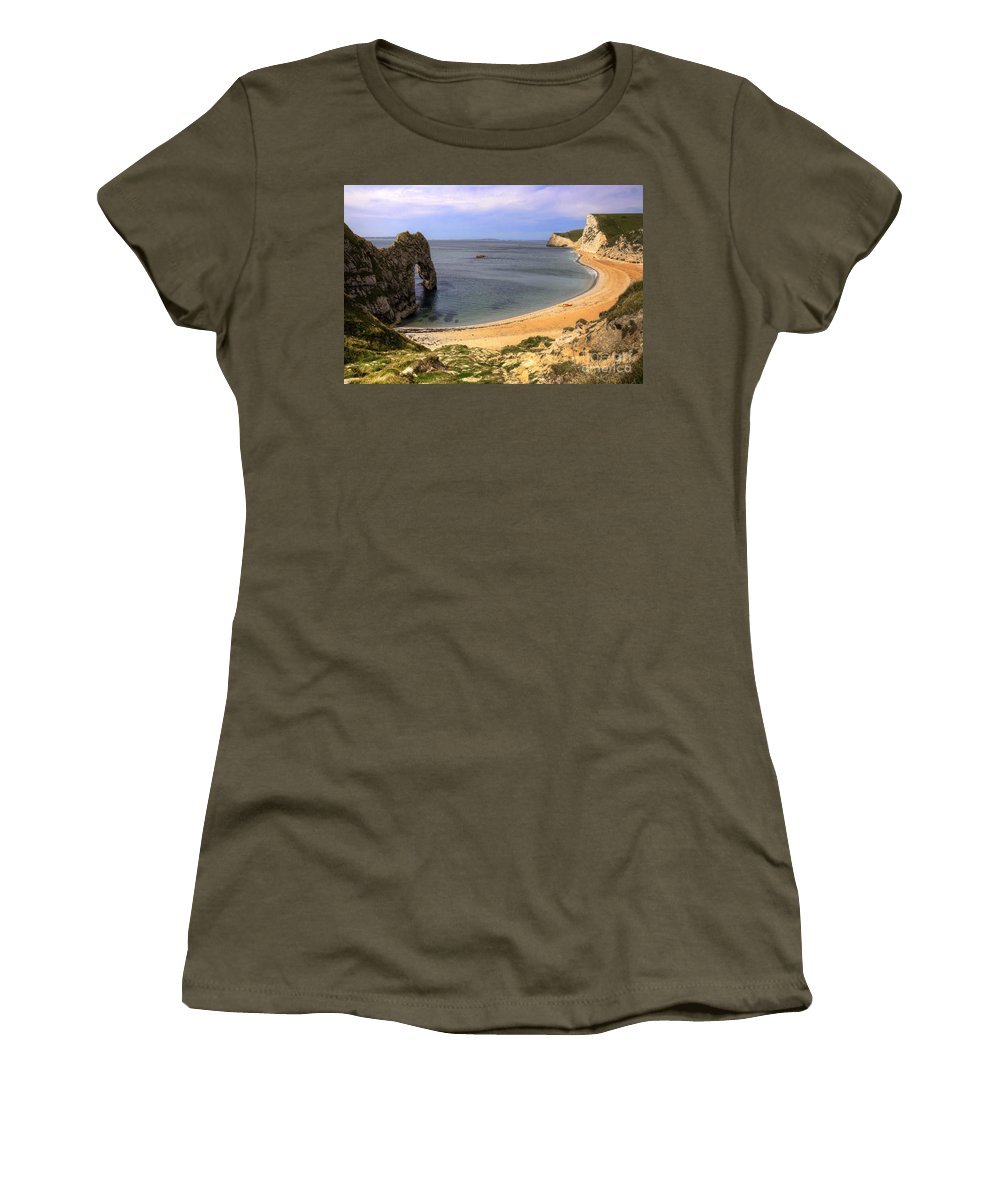 Durdle Women's T-Shirt featuring the photograph Durdle Door by Rob Hawkins