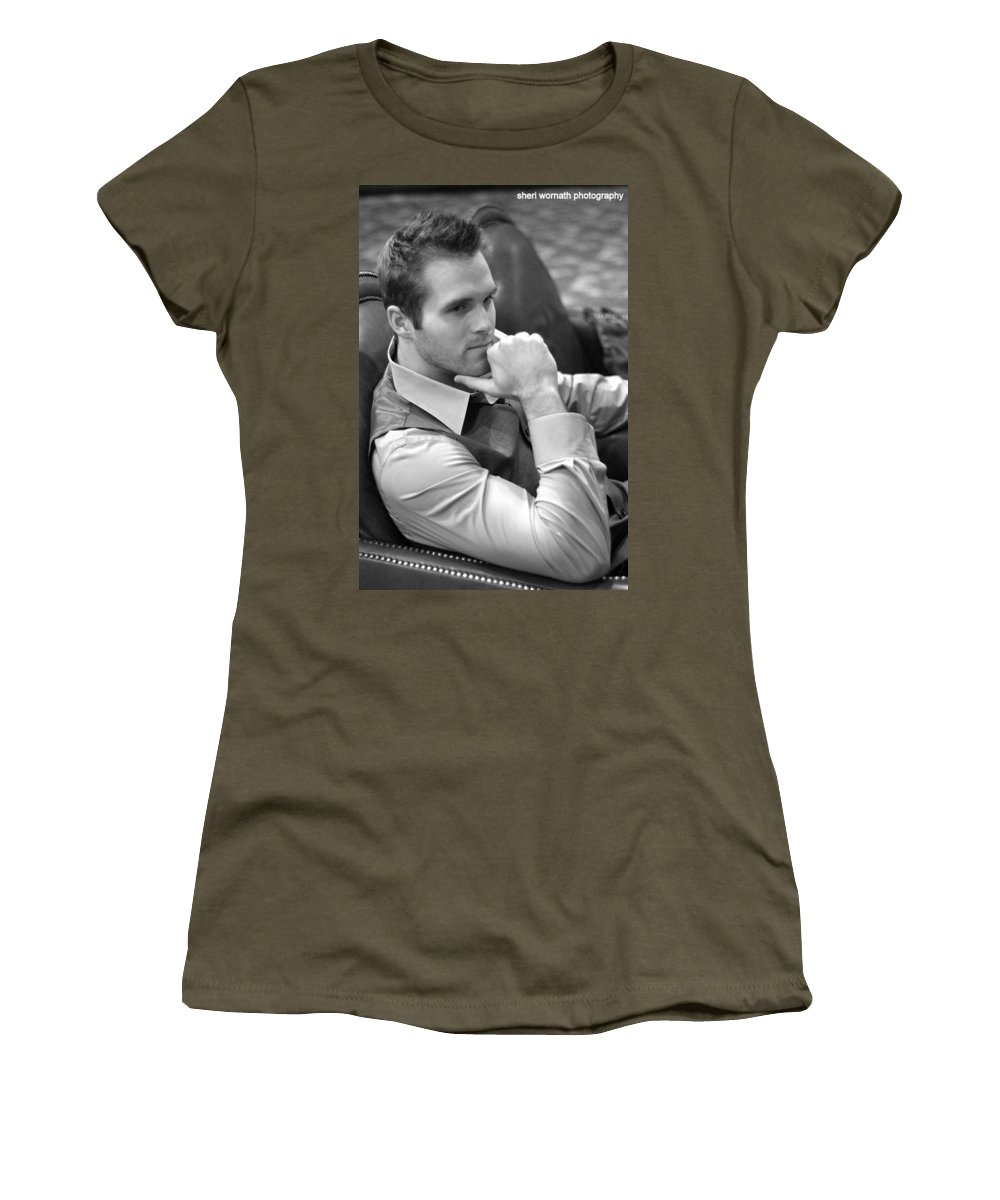 Handsome Women's T-Shirt featuring the photograph Dustin by Sheri Bartoszek