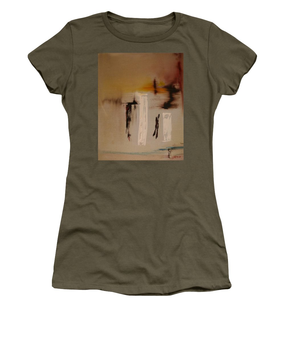 Abstract Women's T-Shirt (Athletic Fit) featuring the painting Easy by Jack Diamond