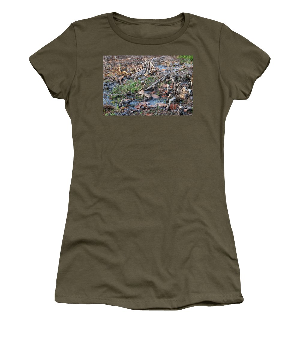 River Women's T-Shirt featuring the photograph Ebb And Flow by Rob Hans
