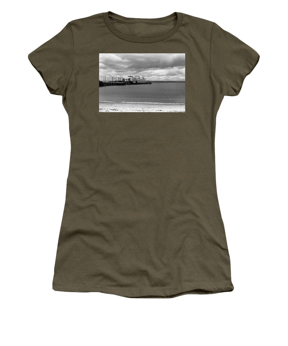 History Women's T-Shirt featuring the photograph Edmonds Ferry by Karen Ulvestad