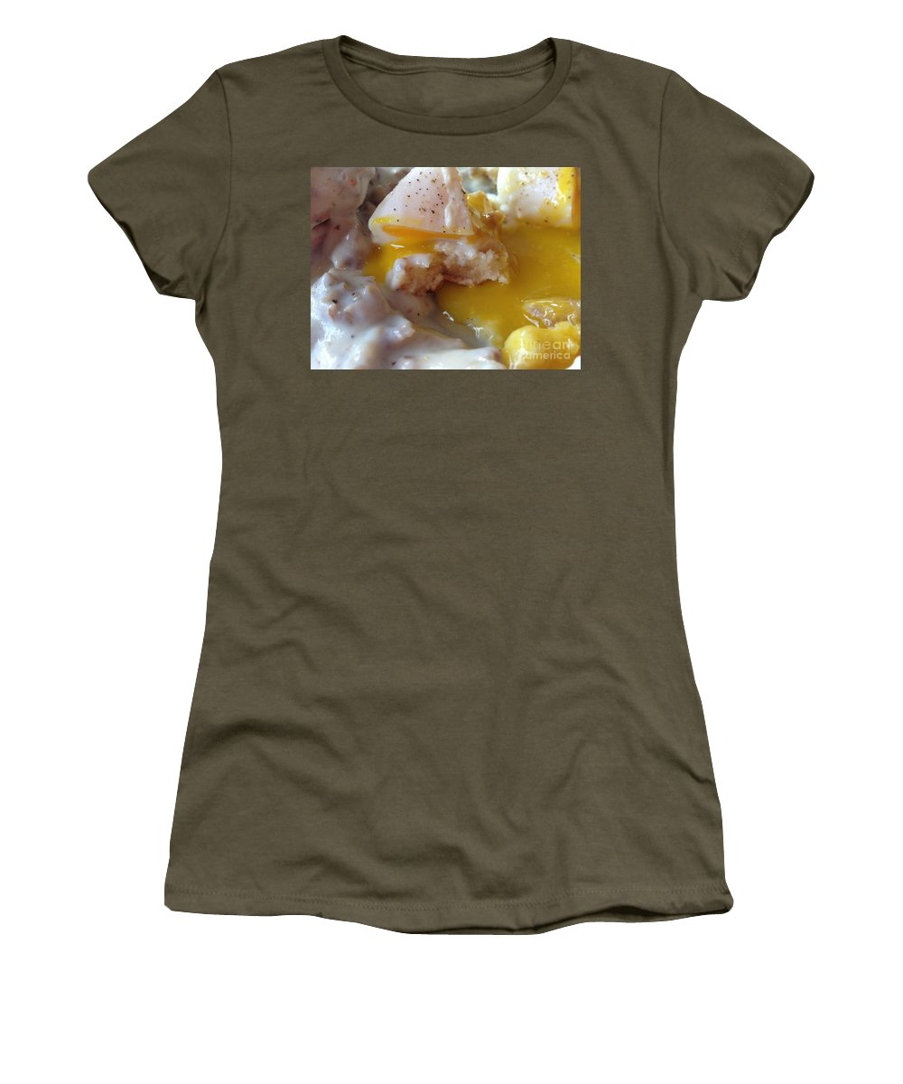 Ume Women's T-Shirt featuring the photograph Egg And Gravy by Bri Lou