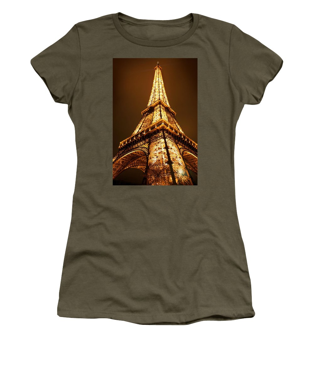 Eiffel Women's T-Shirt (Athletic Fit) featuring the photograph Eiffel by Skip Hunt