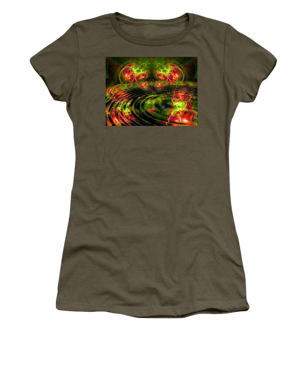 Green Women's T-Shirt featuring the digital art Einstein's Dream by Robert Orinski