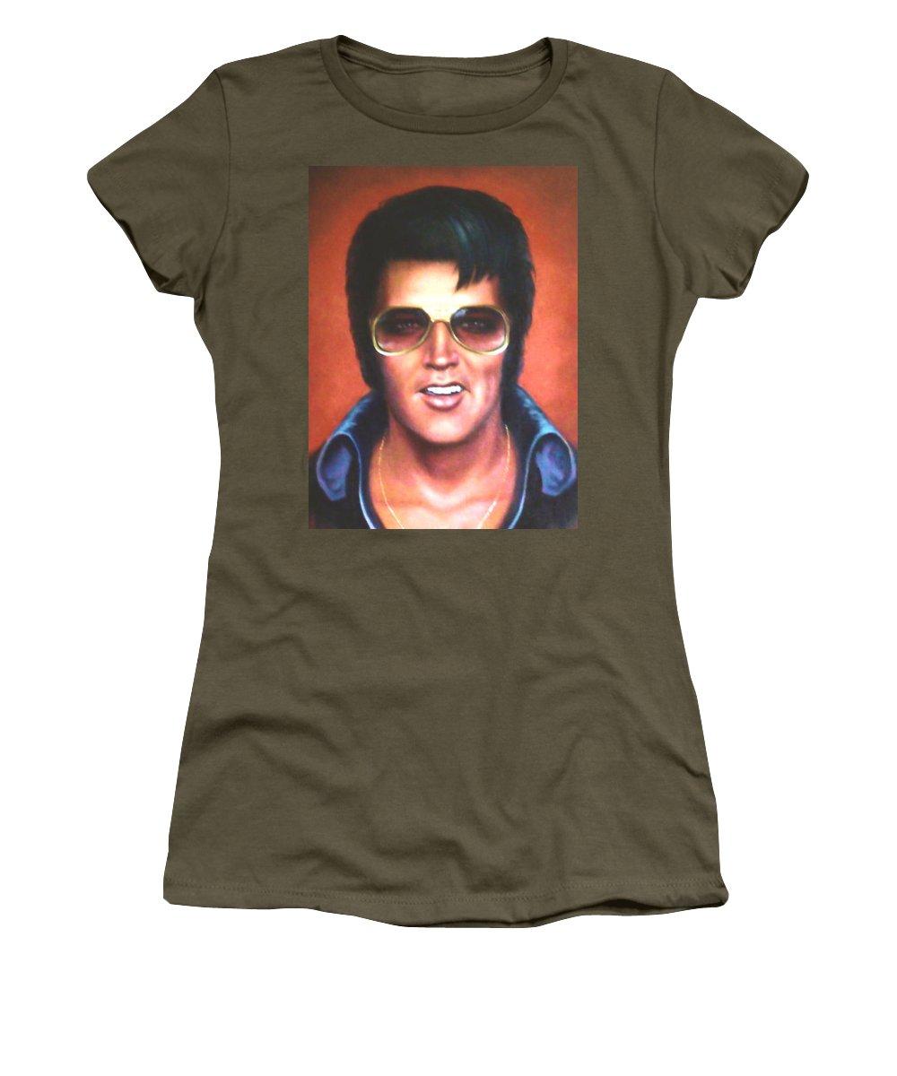 3e359f91c Elvis Presley Women's T-Shirt for Sale by Loxi Sibley
