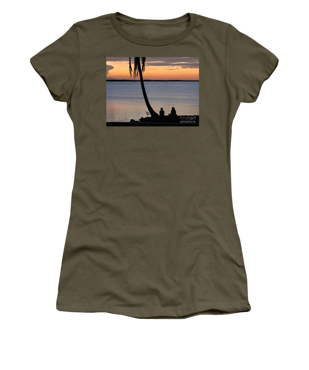 Sunset Women's T-Shirt featuring the photograph Embracing The Moment by Marilee Noland