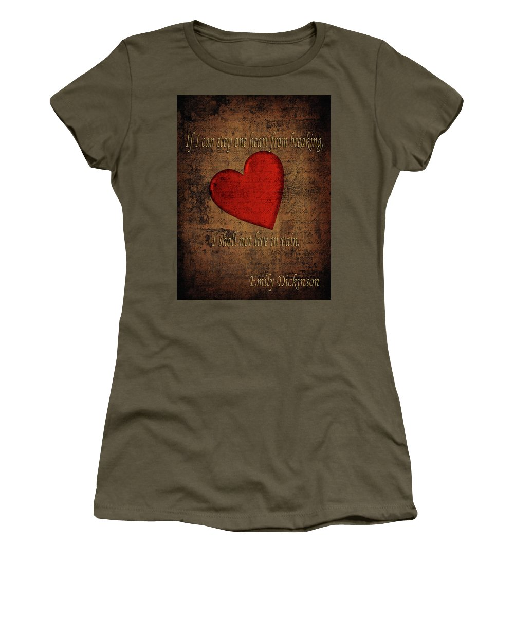 Emily Dickinson Women's T-Shirt featuring the photograph Emily Dickinson by Andrew Fare