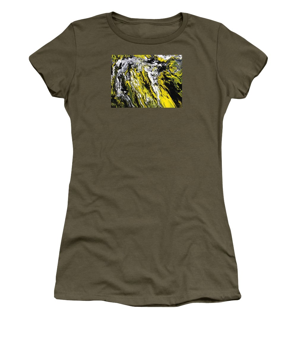 Abstract Women's T-Shirt featuring the painting Emphasis by Ralph White