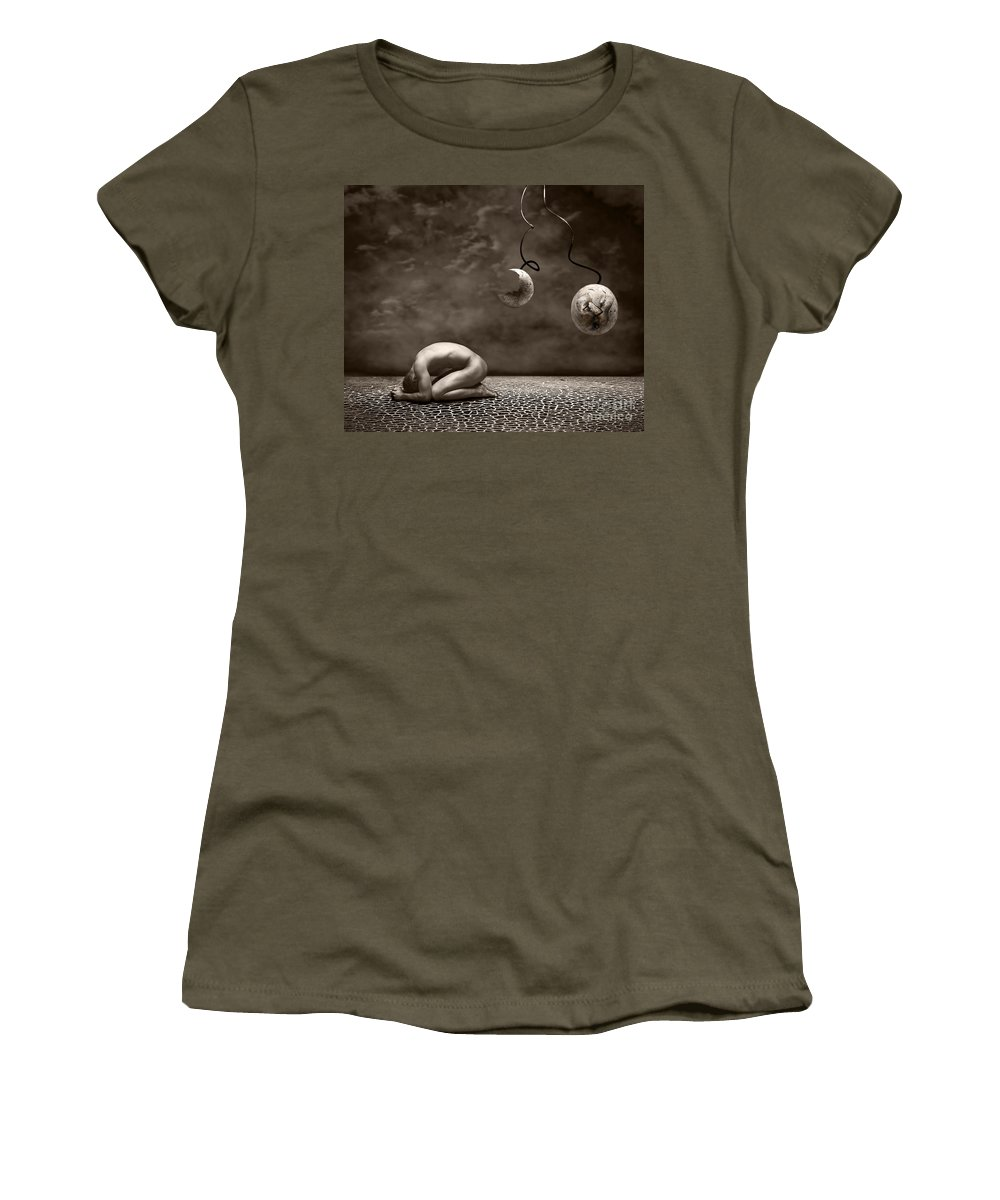 Surreal Women's T-Shirt (Athletic Fit) featuring the photograph Emptiness by Jacky Gerritsen