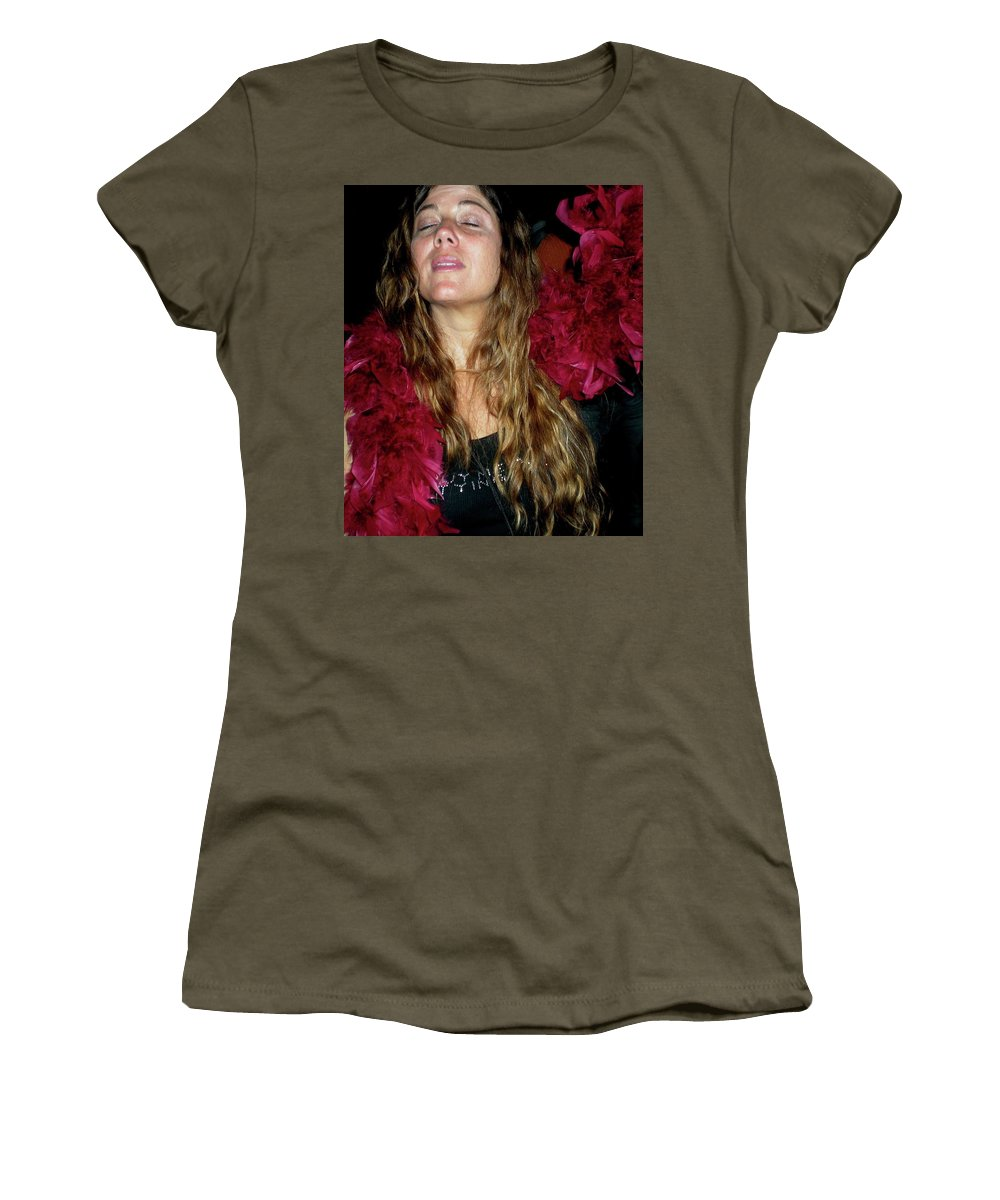 Lady Women's T-Shirt featuring the photograph Emulating Janis by Angela Murray