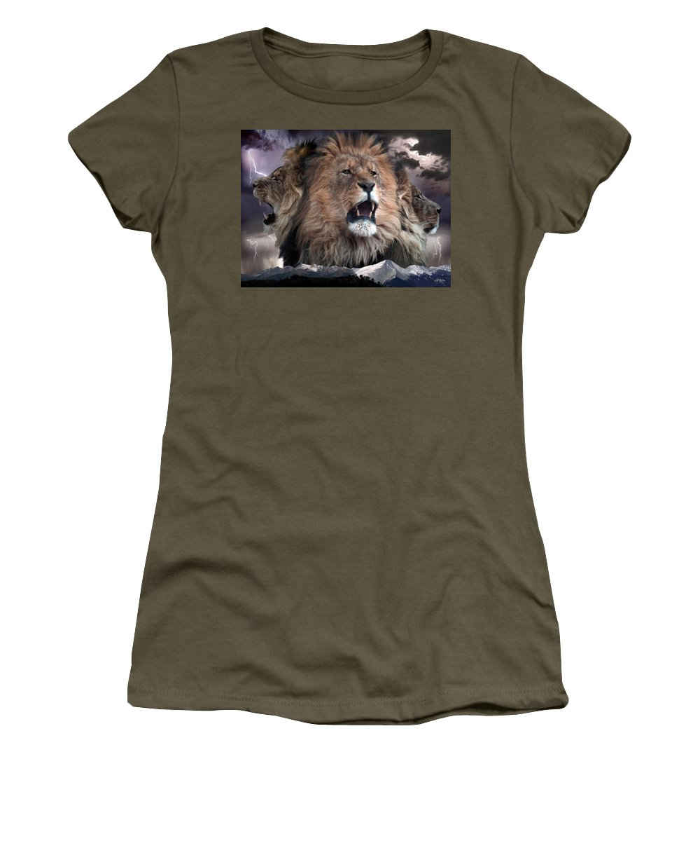 Lions Women's T-Shirt featuring the digital art Enough by Bill Stephens