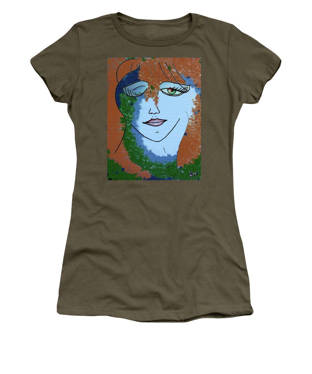 Woman Women's T-Shirt featuring the digital art Envy by Donna Blackhall