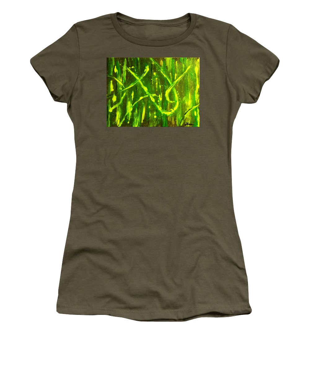 Abstract Women's T-Shirt (Athletic Fit) featuring the painting Envy by Todd Hoover