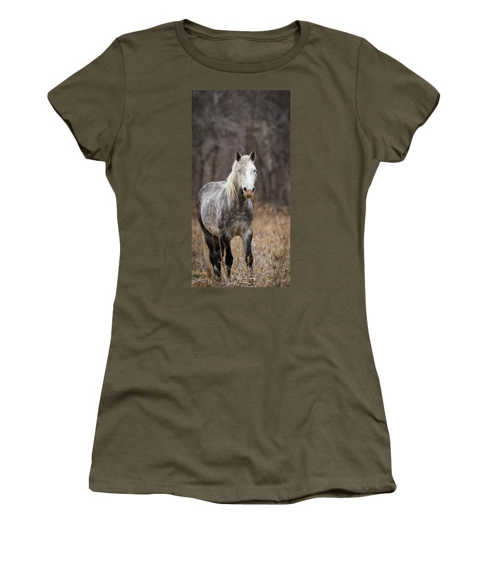 Horse Women's T-Shirt featuring the photograph Escape by Holly Ross