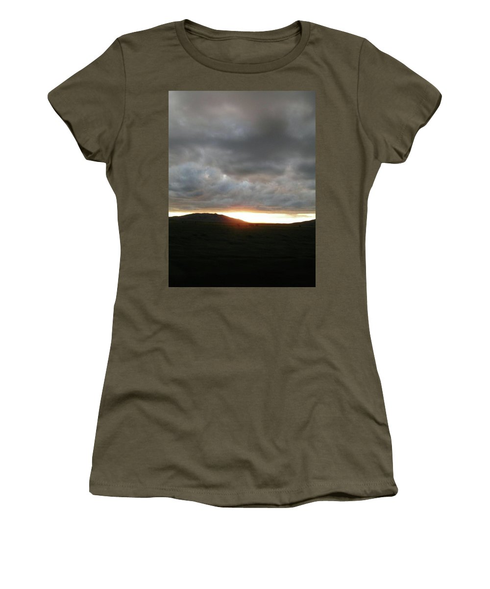Weather Women's T-Shirt (Athletic Fit) featuring the photograph Ethereal Sky by Valerie Nolan