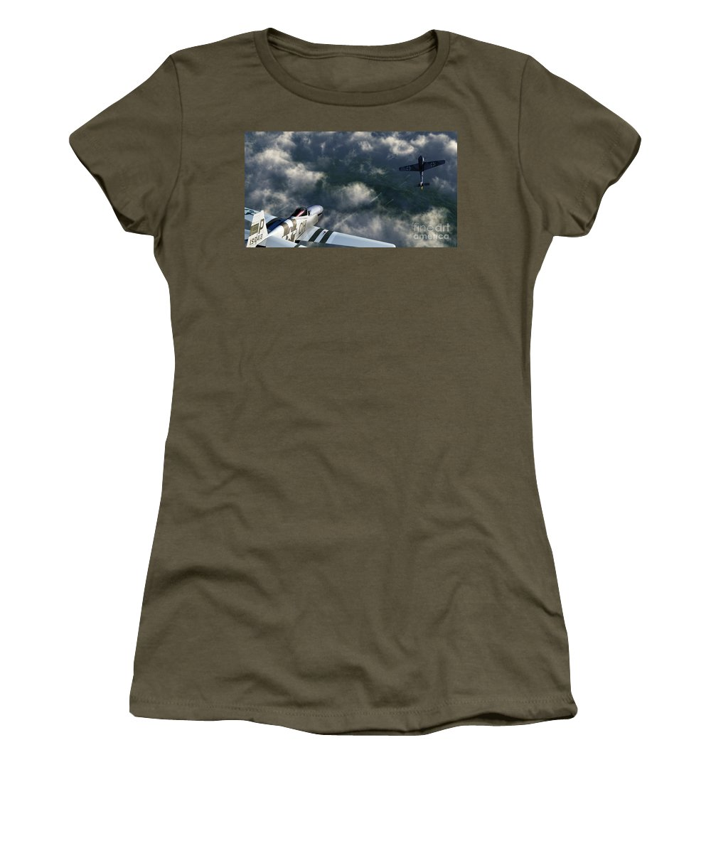 Warbirds Women's T-Shirt (Athletic Fit) featuring the digital art Evade by Richard Rizzo