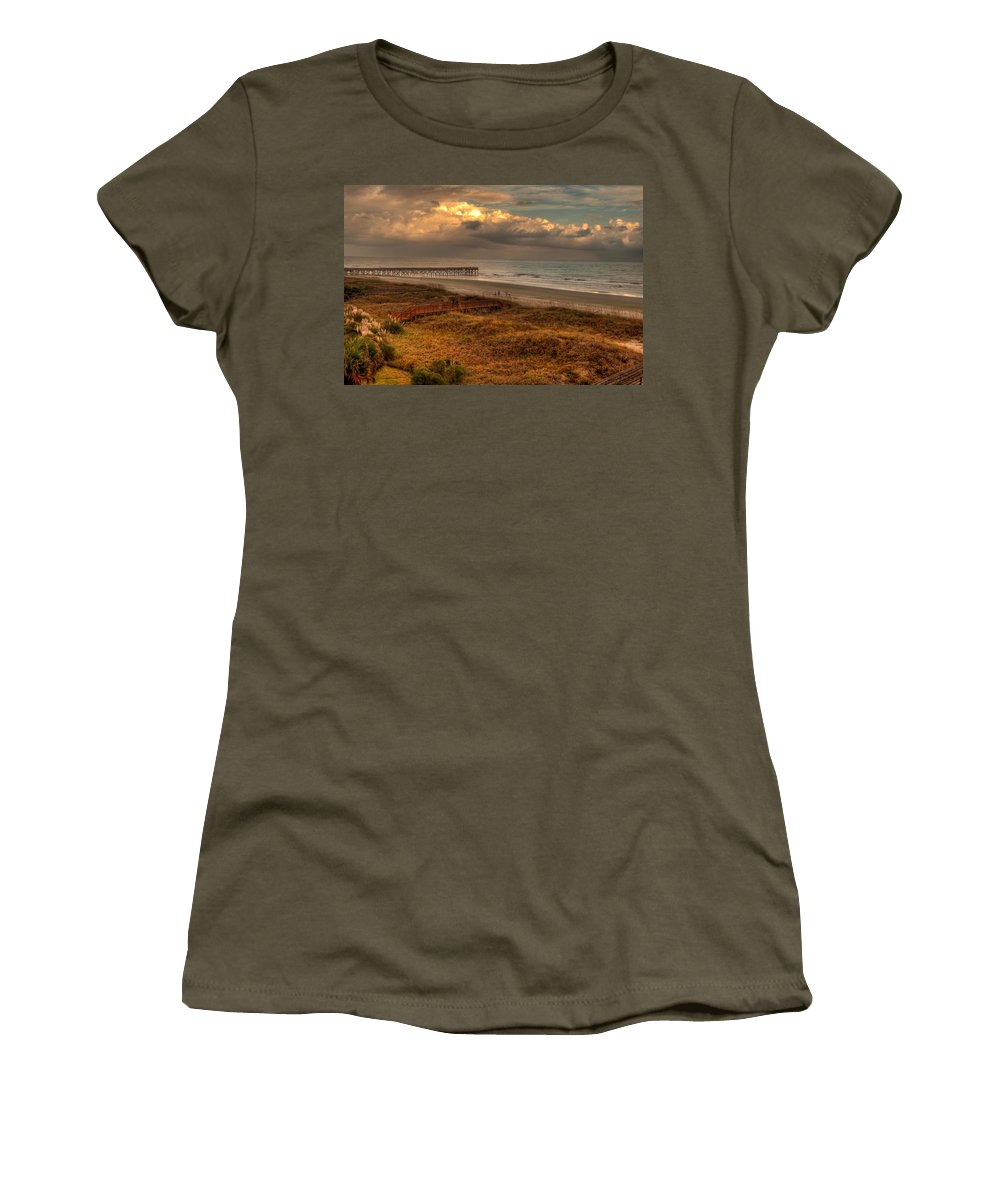 Outdoors Women's T-Shirt featuring the photograph Evening Skies by Paulette B Wright
