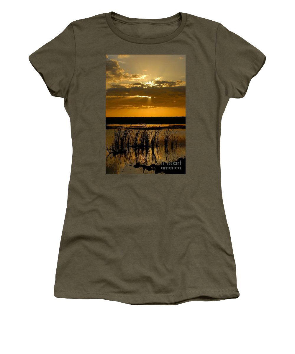 Everglades National Park Florida Women's T-Shirt featuring the photograph Everglades Evening by David Lee Thompson