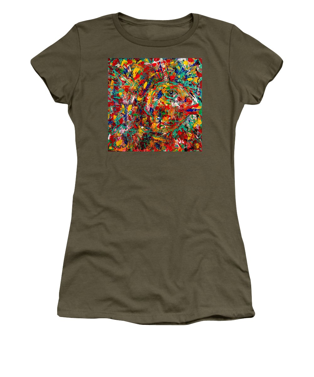 Abstract Women's T-Shirt featuring the painting Eye Of The Beholder by Natalie Holland