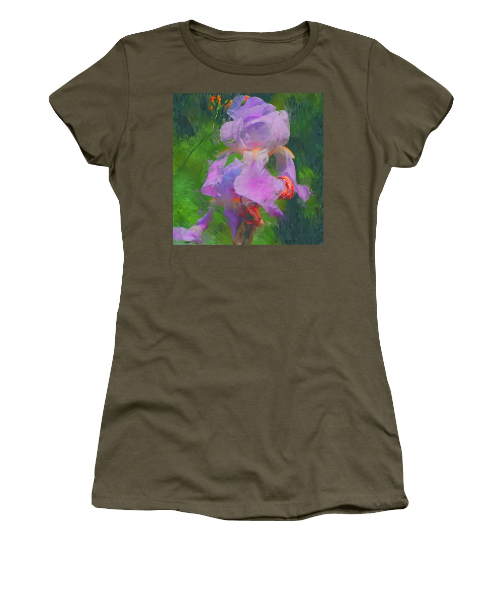 Iris Women's T-Shirt (Athletic Fit) featuring the painting Fading Glory by David Lane