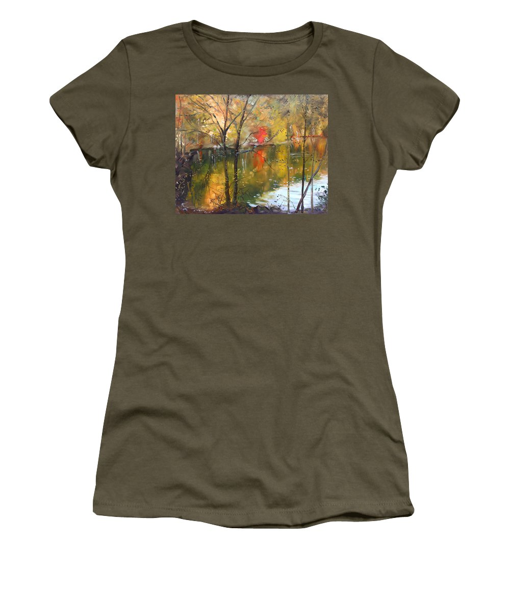 Landscape Women's T-Shirt featuring the painting Fall 2009 by Ylli Haruni