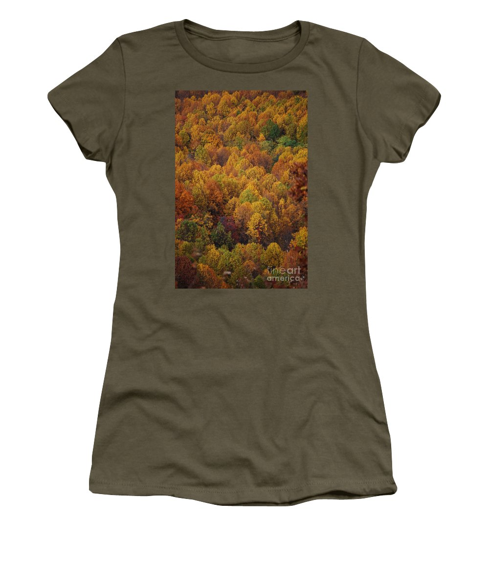 Fall Women's T-Shirt featuring the photograph Fall Cluster by Eric Liller