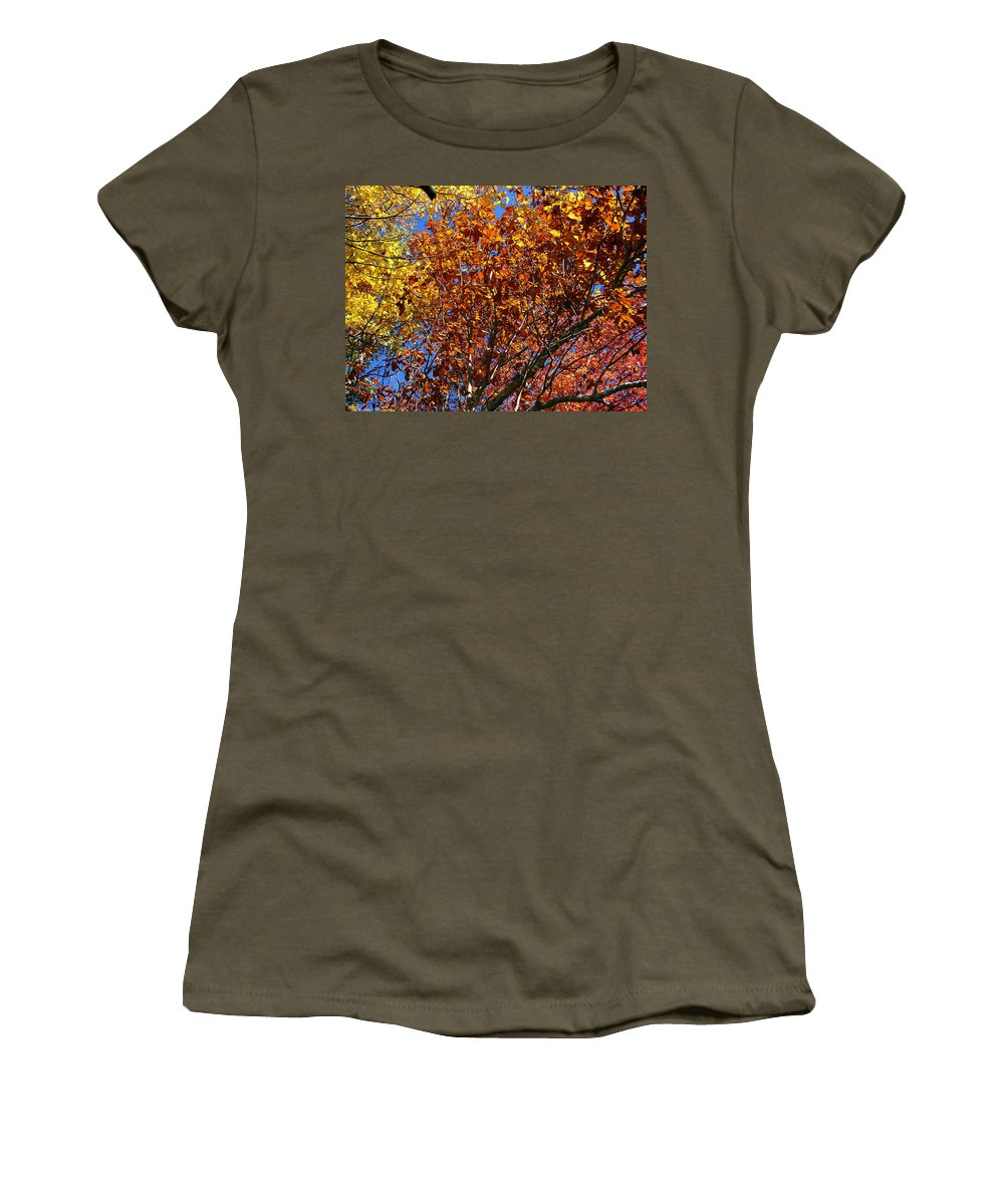 Fall Women's T-Shirt (Athletic Fit) featuring the photograph Fall by Flavia Westerwelle