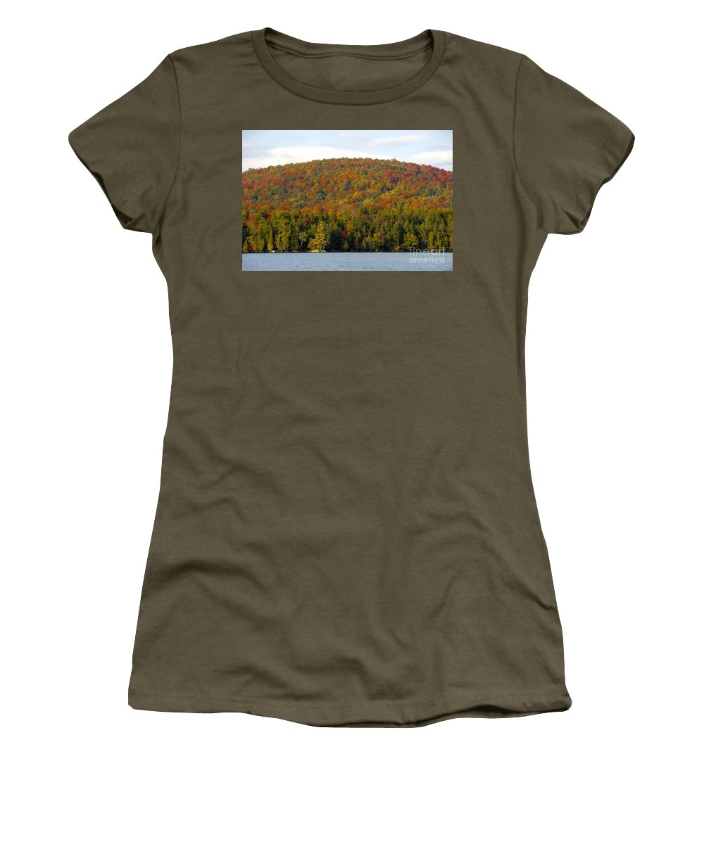Fall Women's T-Shirt (Athletic Fit) featuring the photograph Fall Island by David Lee Thompson