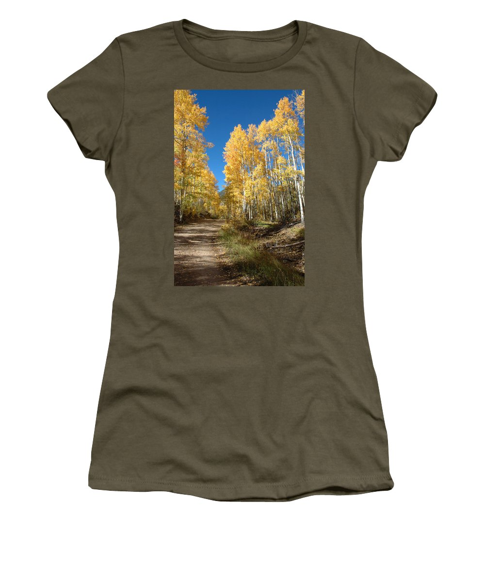 Landscape Women's T-Shirt featuring the photograph Fall Road by Jerry McElroy