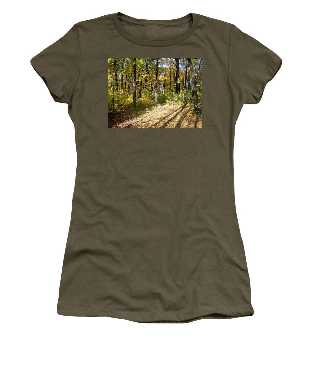 Fall Women's T-Shirt featuring the photograph Fall Series 2 by Anita Burgermeister
