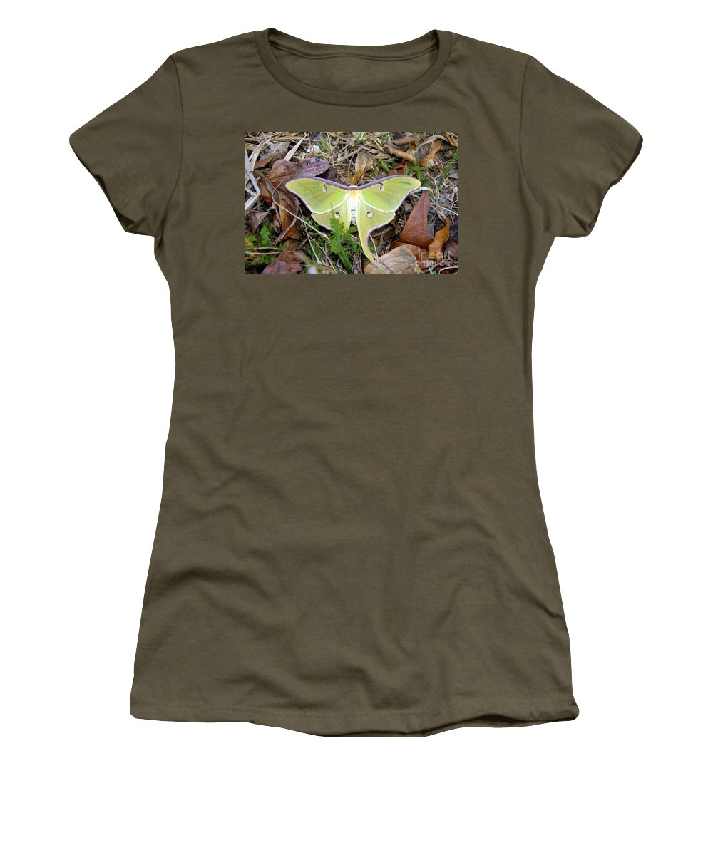 Moth Women's T-Shirt featuring the photograph Fallen Angel by David Lee Thompson