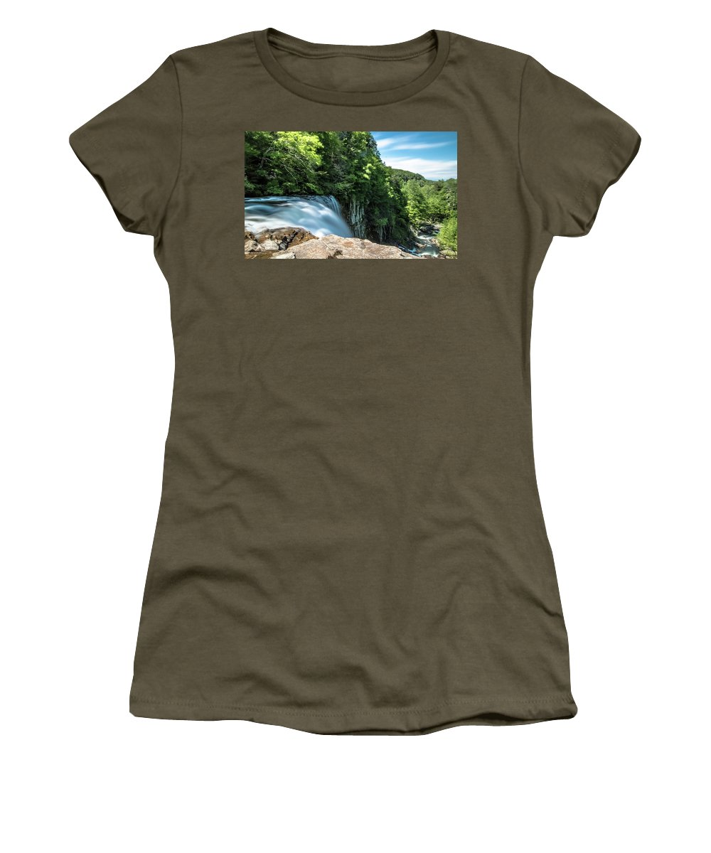 Long Exposure Women's T-Shirt (Athletic Fit) featuring the photograph Falling by Mike Dunn