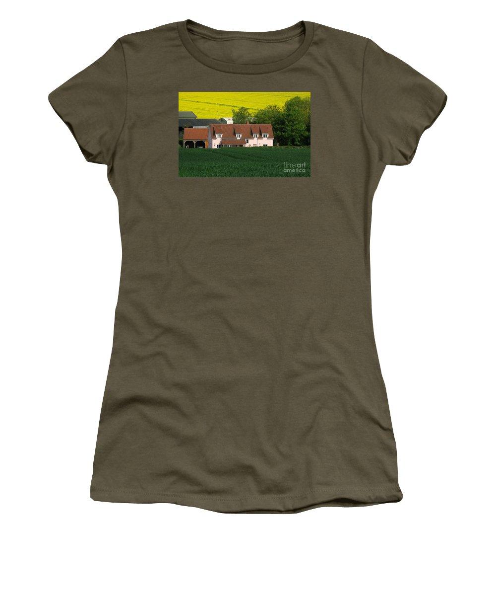 Farm Women's T-Shirt (Athletic Fit) featuring the photograph Farm Fields by Ann Horn