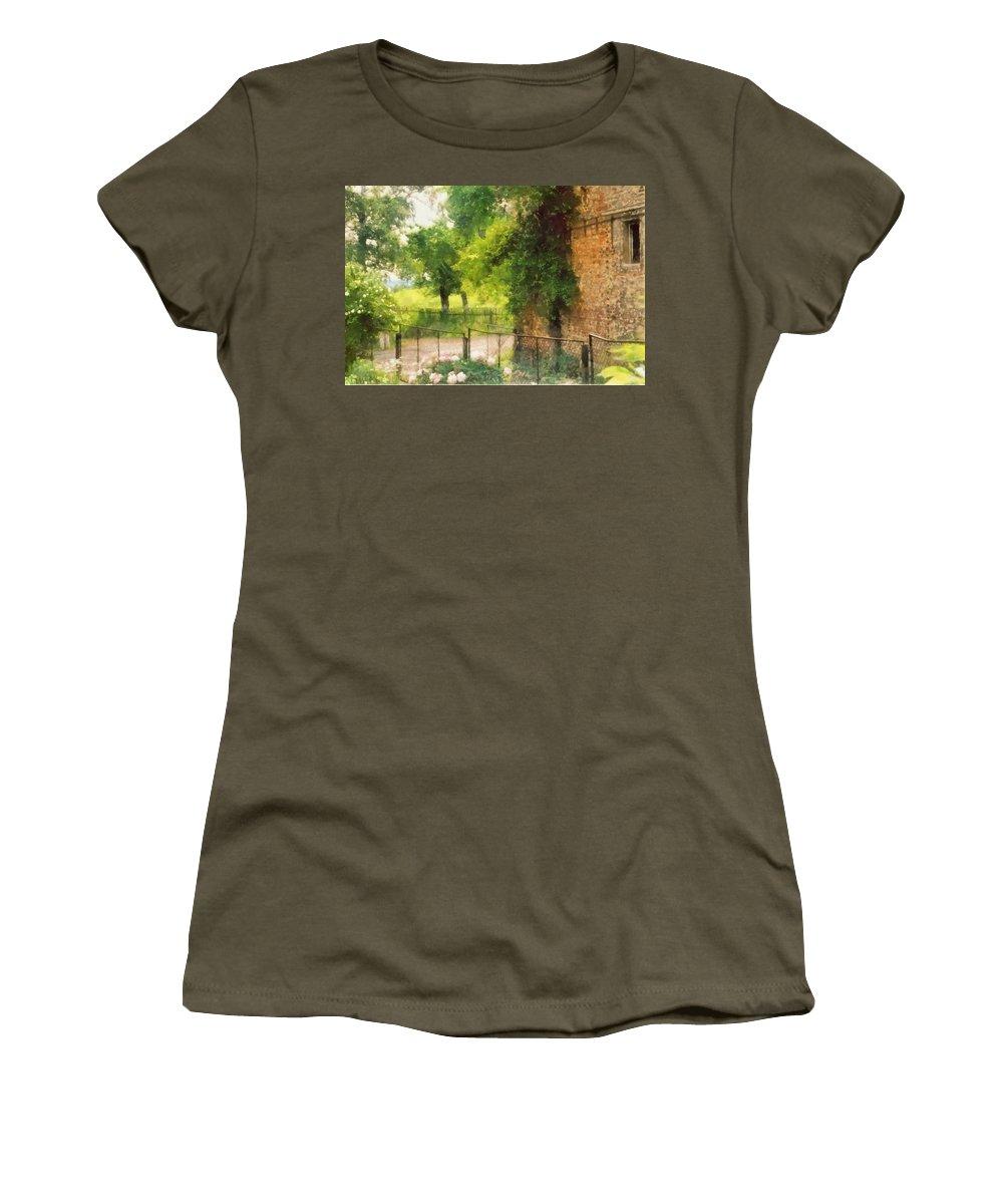 Farm Women's T-Shirt featuring the digital art Farm View by Marcin and Dawid Witukiewicz