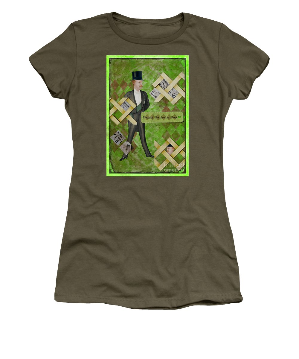 Fathers Women's T-Shirt (Athletic Fit) featuring the photograph Fathers Day by Gillian Singleton