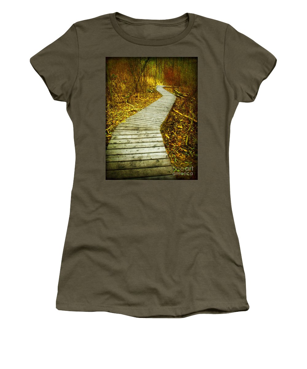 Boarwalk Women's T-Shirt featuring the photograph February 9 2010 by Tara Turner