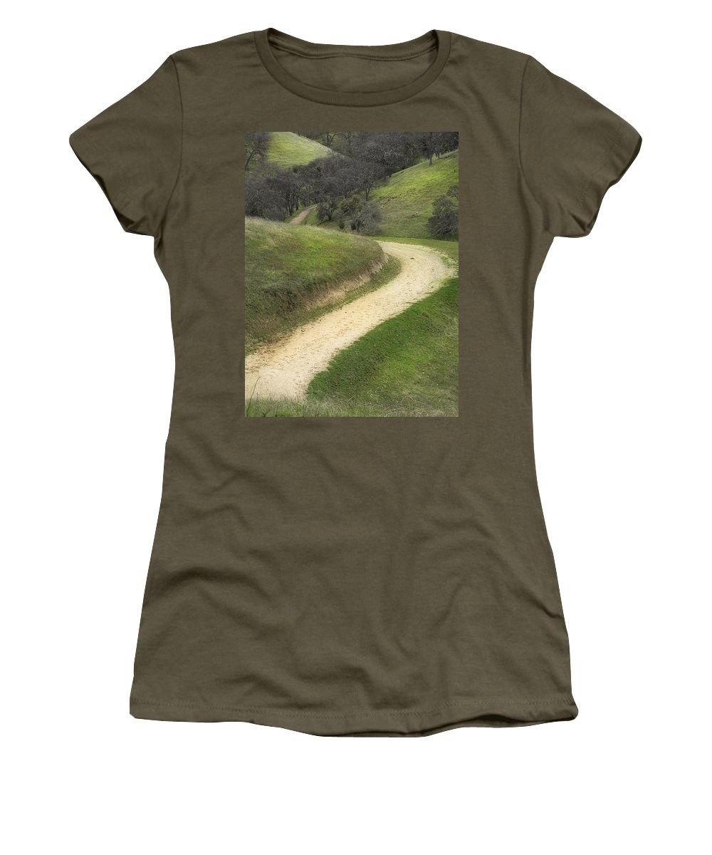 Landscape Women's T-Shirt (Athletic Fit) featuring the photograph February Green by Karen W Meyer