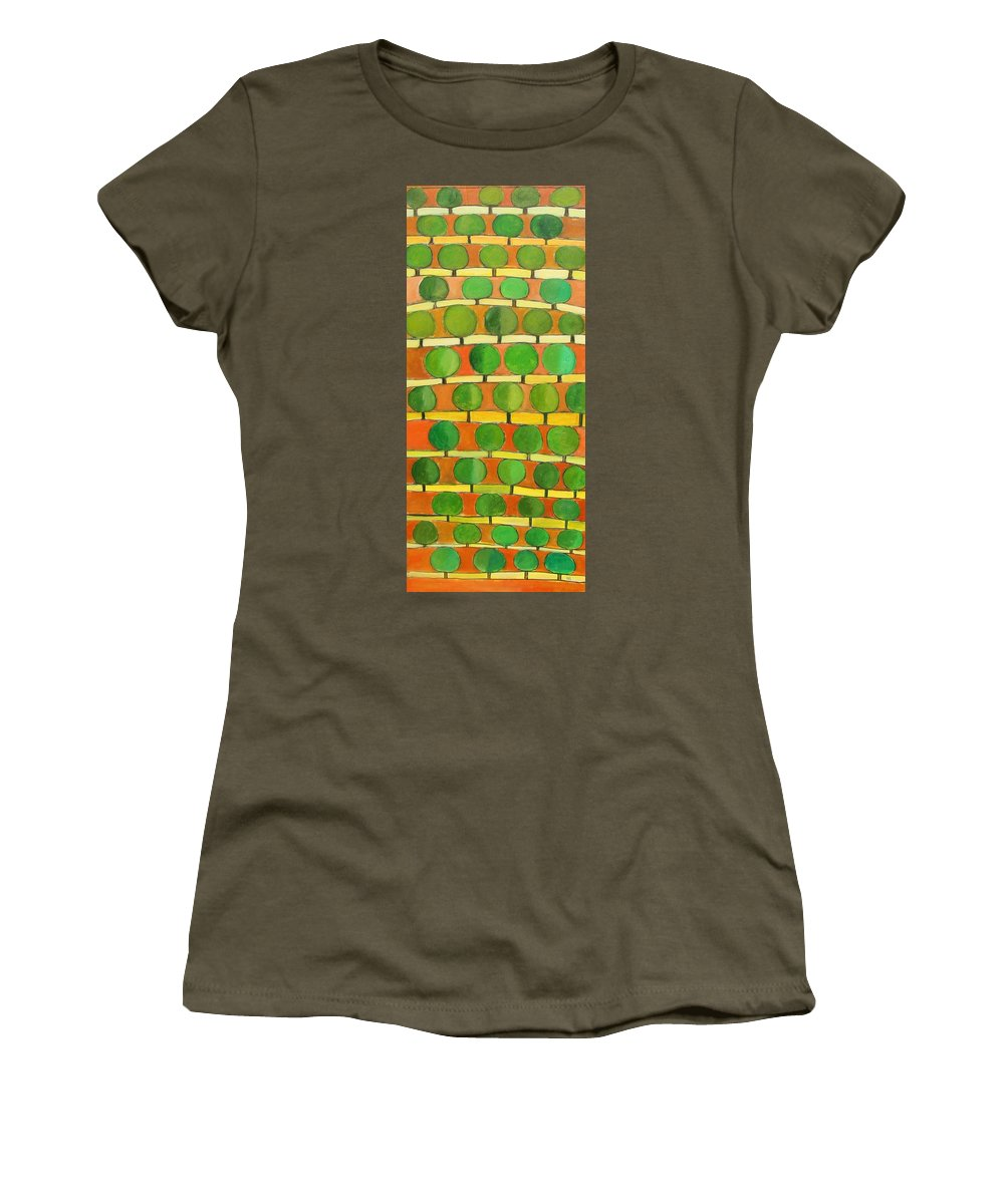 Abstract Women's T-Shirt featuring the painting Fertile Soil by Habib Ayat