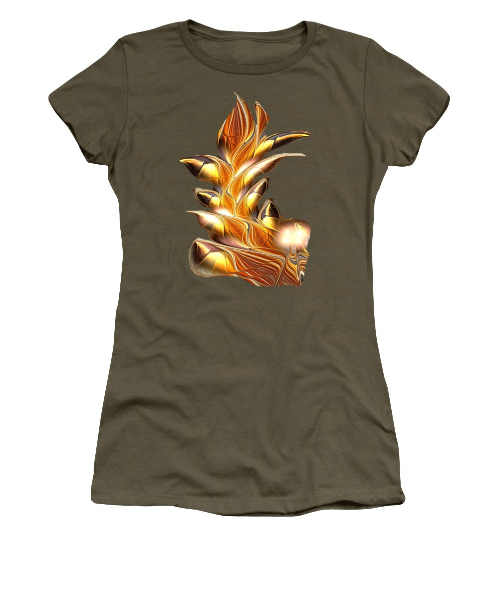 Volcanoes Mixed Media Women's T-Shirts