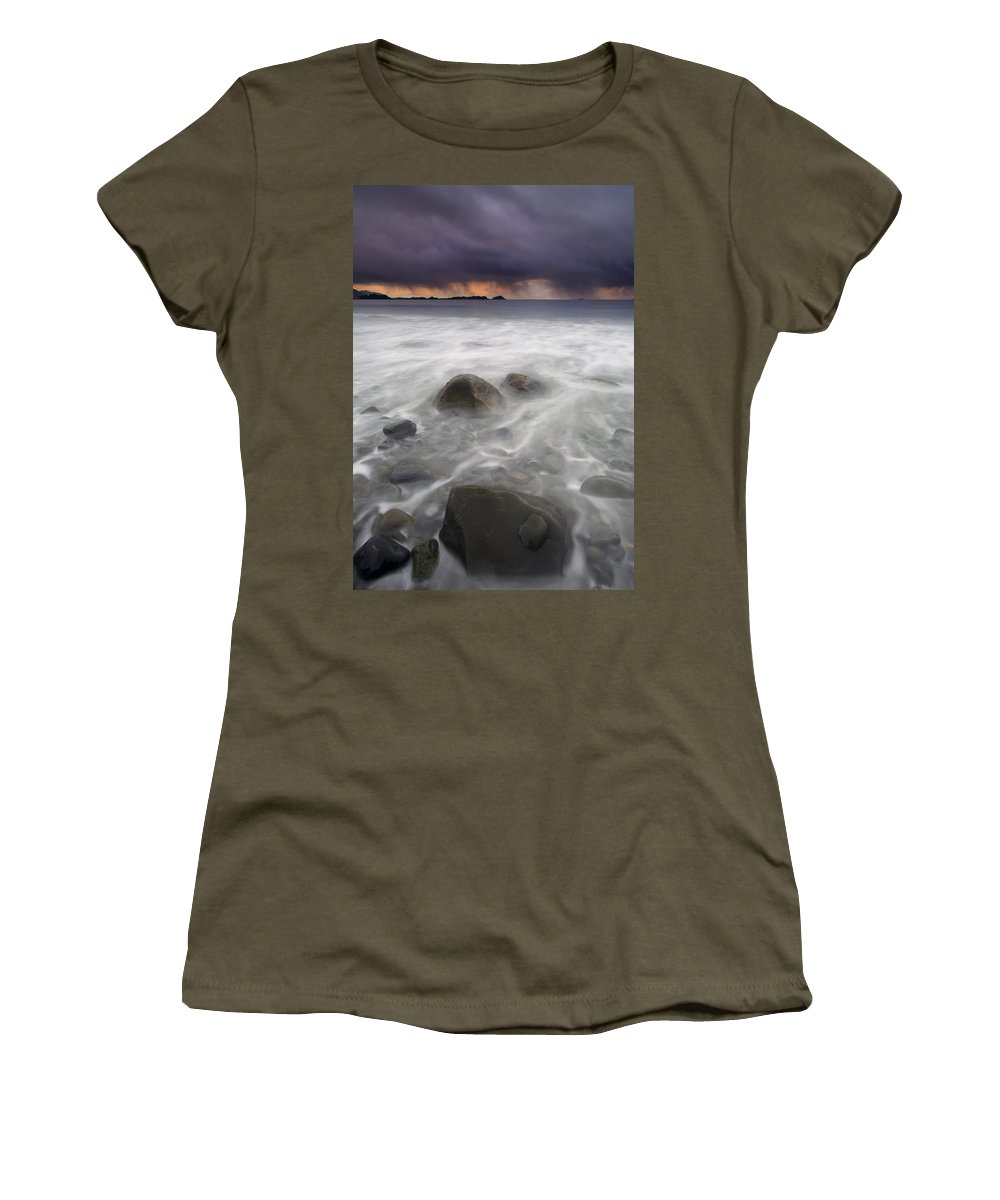 Storm Women's T-Shirt (Athletic Fit) featuring the photograph Fingers Of The Storm by Mike Dawson