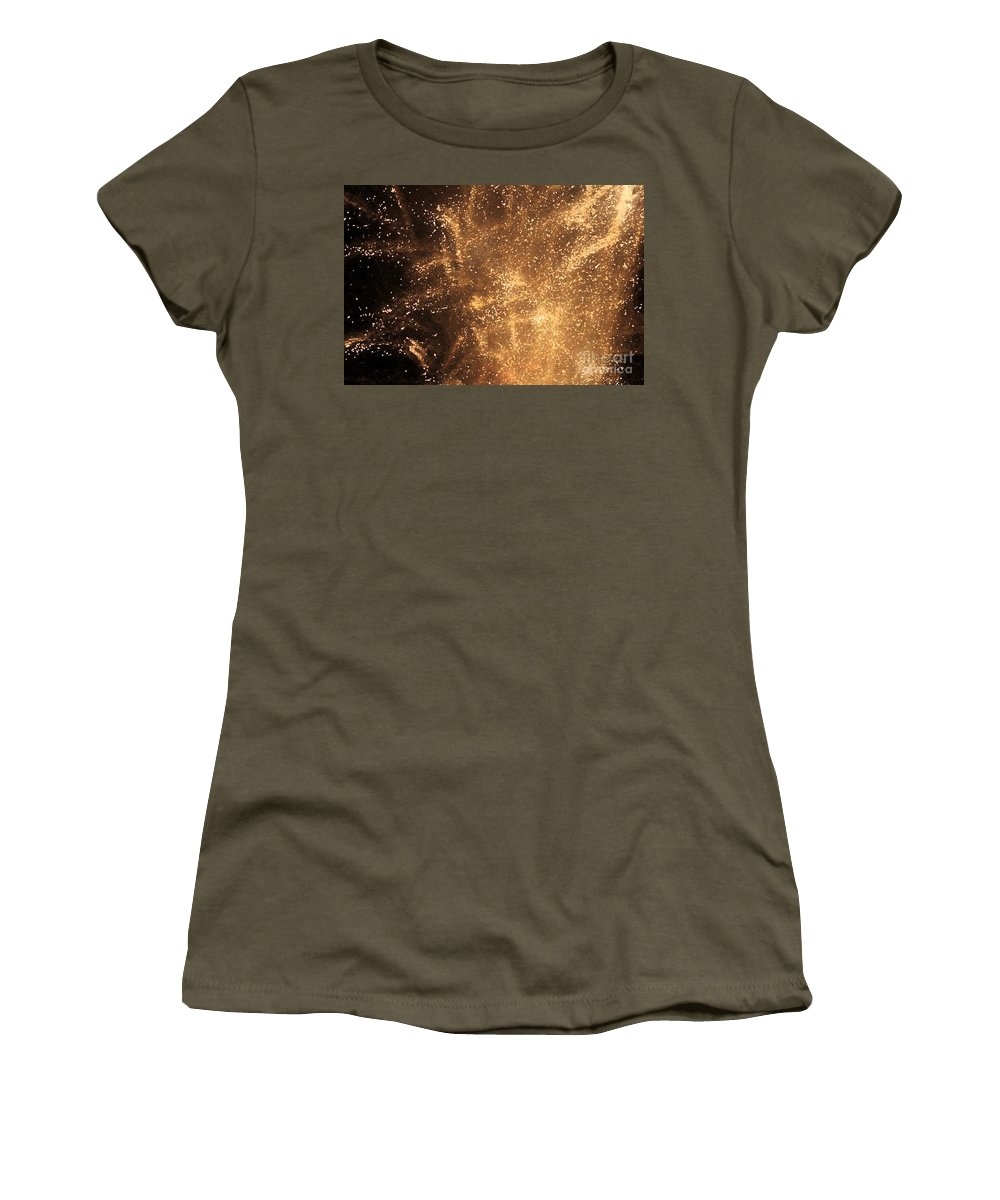 Fireworks Women's T-Shirt (Athletic Fit) featuring the photograph Fired Up by Debbi Granruth