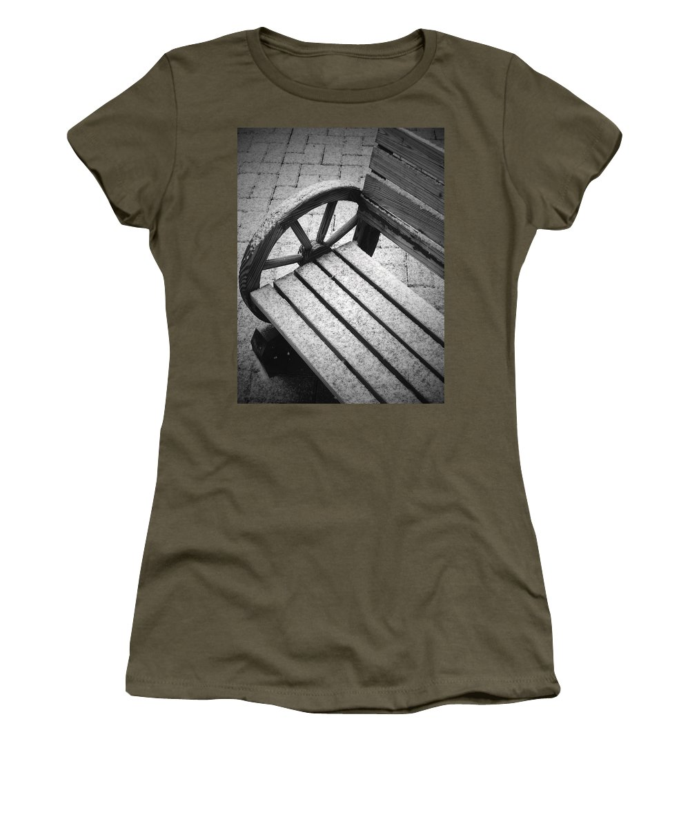 Snow Women's T-Shirt featuring the photograph First Snow by Tara Turner
