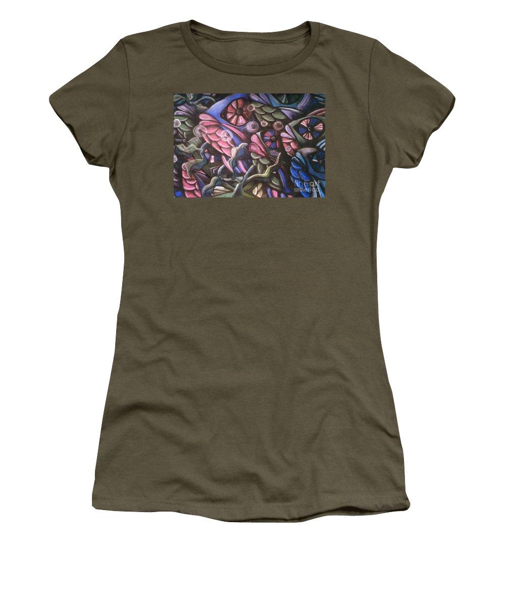 Caroline Peacock Women's T-Shirt featuring the pastel Fish by Caroline Peacock