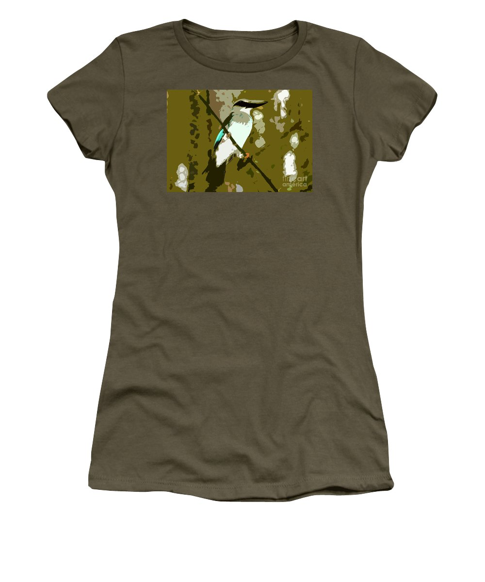 Fisher King Women's T-Shirt (Athletic Fit) featuring the photograph Fisher King by David Lee Thompson