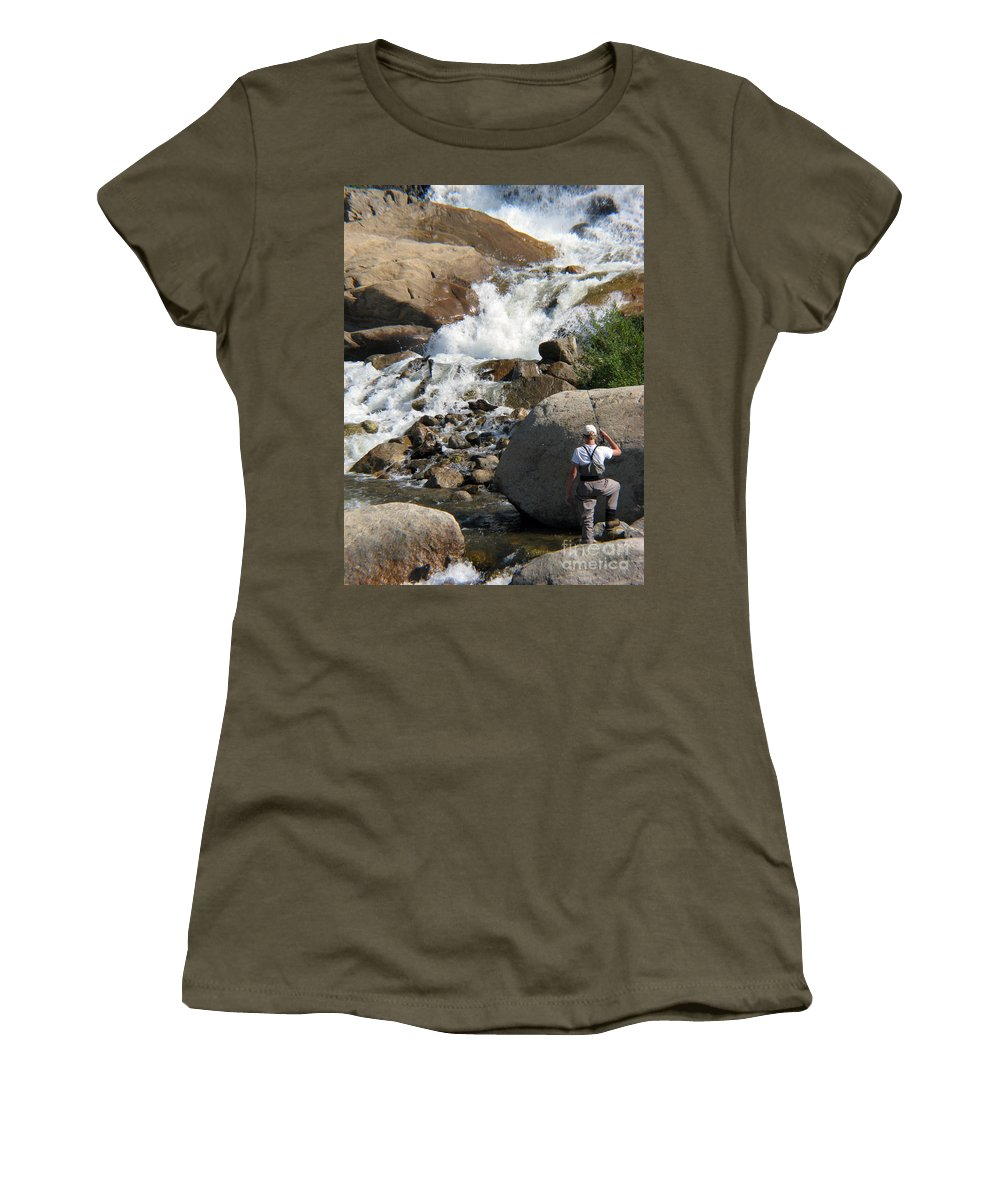 Fishing Women's T-Shirt (Athletic Fit) featuring the photograph Fishing Anyone by Amanda Barcon