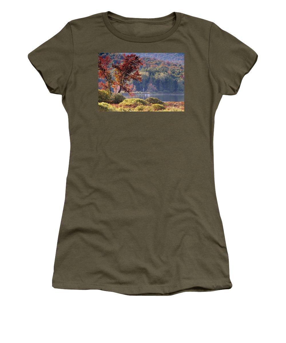 Adirondack Mountains Women's T-Shirt featuring the photograph Fishing The Adirondacks by David Lee Thompson