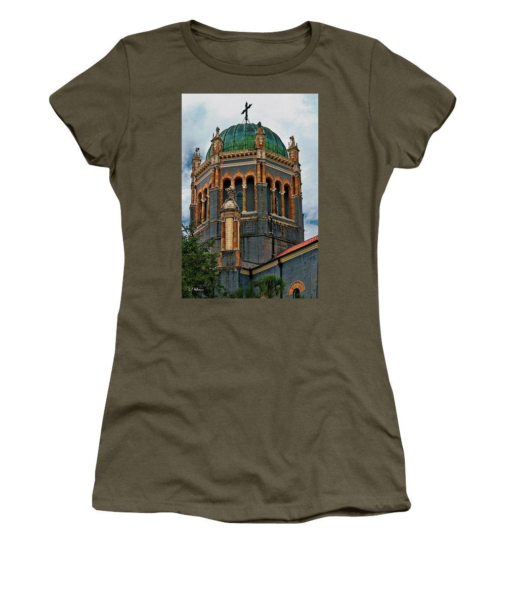 Church Women's T-Shirt featuring the photograph Flagler Memorial Presbyterian Church 3 by Christopher Holmes